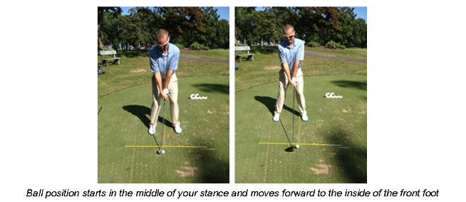 Ball Position-short iron and driver